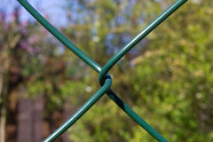 Abstract of Green Plastic coated wire Stock Photo