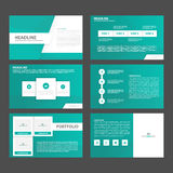 Abstract Green presentation template flat design set for brochure flyer leaflet marketing Stock Image