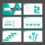 Abstract green presentation template Infographic elements flat design set for brochure flyer leaflet marketing Stock Photography