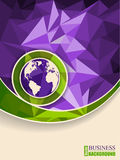 Abstract green purple brochure with polygons Royalty Free Stock Image