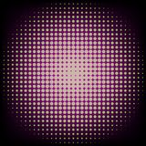 Abstract green and purple circle halftone on black background vector illustration.  Royalty Free Stock Photo