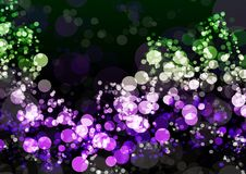 Abstract green purple colorful bokeh wallpaper Royalty Free Stock Images