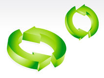 Abstract green recyle icon Royalty Free Stock Photo