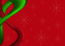 Abstract green and red Christmas background Stock Images