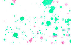 Abstract green red ink splash. Abstract two-color green red ink splash. Ink blots. Elements of design. The water-soluble ink on white paper Leste. Abstractionism Stock Images