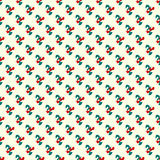 Abstract green and red objects on a light background seamless pattern Royalty Free Stock Images