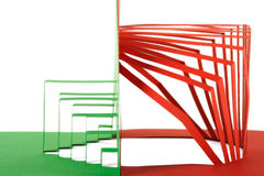 Abstract green and red paper composition Royalty Free Stock Photo