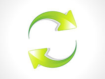 Abstract green refresh icon Royalty Free Stock Photography