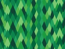 Abstract green rhombic seamless pattern Earth covered with pines Royalty Free Stock Image