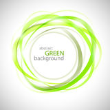 Abstract green rings Royalty Free Stock Photography