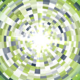 Abstract green round mosaic background. Vector illustration Royalty Free Stock Images