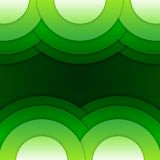 Abstract green round shapes background Royalty Free Stock Photography