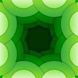 Abstract green round shapes background Royalty Free Stock Image