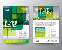 Abstract green round square graphic background for Brochure cover Flyer Poster design Layout Stock Photography