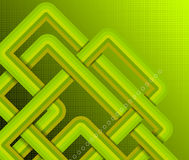 Abstract green rounded corner on checked pattern background composition Royalty Free Stock Photos