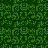 Abstract green seamless line art grunge pattern. Stock Photo