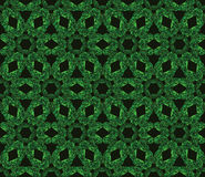 Abstract green seamless pattern on a black background. Royalty Free Stock Photo