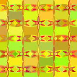Abstract green seamless patterns Stock Photo