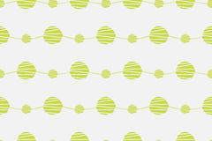 Abstract green seamless vector pattern. Waves with hand drawn circles background. Abstract seamless vector pattern. Waves with hand drawn circles background Stock Photo