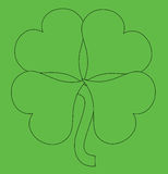 Abstract Green Shamrock Stock Photography