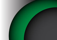 Abstract green shape curve on metal gray design modern background vector Stock Photo