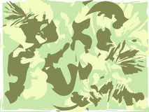 Abstract green shapes Royalty Free Stock Image