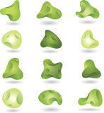 Abstract green shapes. Set of abstract green shapes Royalty Free Stock Photos