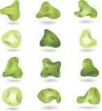 Abstract green shapes. Set of abstract green shapes vector illustration