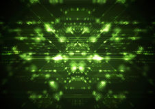 Abstract green shiny cyberspace tech background Royalty Free Stock Photos