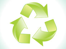 Abstract green shiny eco recycle icon Royalty Free Stock Photography