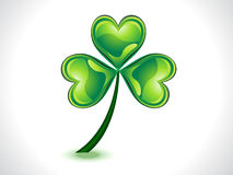 Abstract green shiny st patrick clover Royalty Free Stock Images