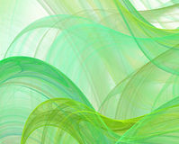 Abstract green silk background Stock Photos
