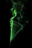 Abstract green smoke stock image