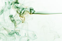 Abstract green smoke. Th photo show the abstract - smoke on the white Stock Image