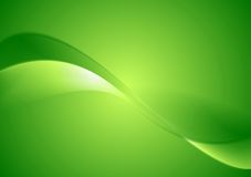 Abstract green smooth waves background. Vector design Stock Image