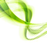 Abstract green smooth wavy bright background Stock Photo