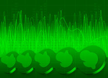 Abstract Green Sound Background Royalty Free Stock Image