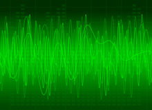 Abstract Green Sound Stock Image