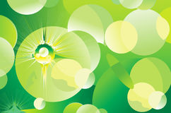 Abstract green sparkle background Royalty Free Stock Photos