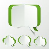 Abstract Green Speech Bubble Set Cut of Paper Royalty Free Stock Image