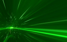 Abstract green speed lens flare on black background. Abstract background lighting flare special effect stock illustration