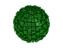 Abstract green sphere Stock Photo