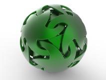 abstract green sphere Στοκ φωτογραφία με δικαίωμα ελεύθερης χρήσης