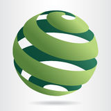 Abstract green sphere icon Stock Photos