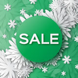 Abstract Green Spring Summer Sale colorful banner for business. Stock Images