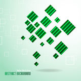 Abstract green square background Royalty Free Stock Photos