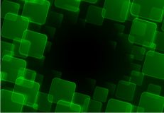 Abstract green square background Stock Photos