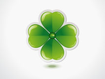 Abstract green st patriks clove Stock Images