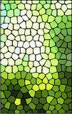 Abstract green stained glass background Stock Image
