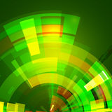 Abstract green star Royalty Free Stock Photo